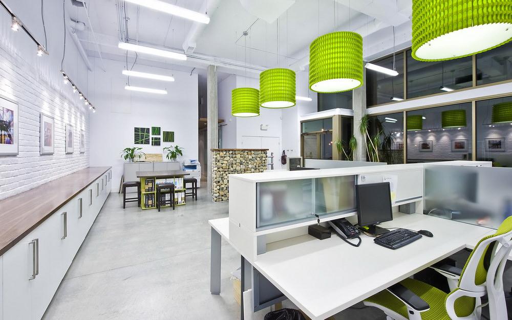 Дизайн офиса в светлых тонах