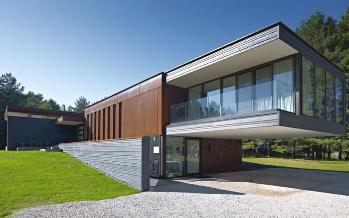 Дом в стиле модерн из СИП панелей