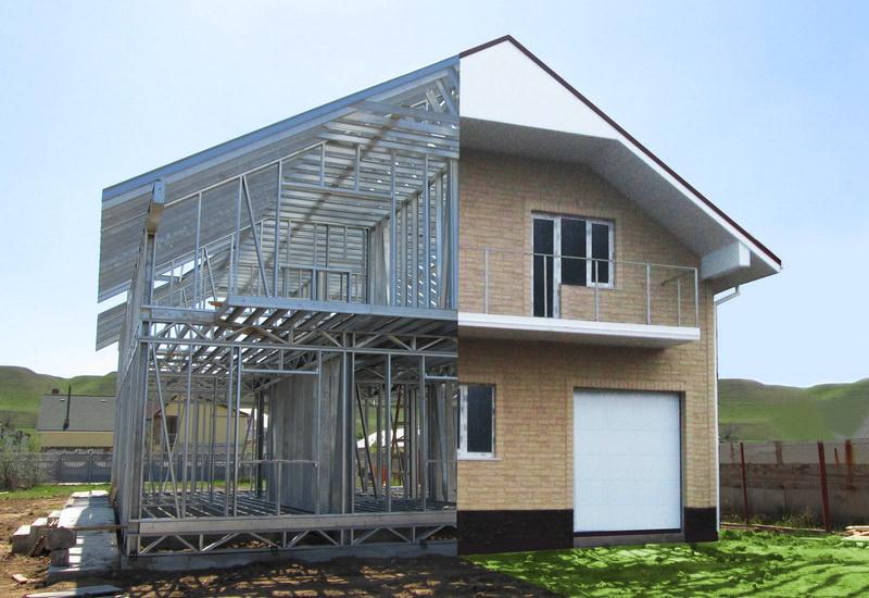 Загородный дом из металлического каркаса