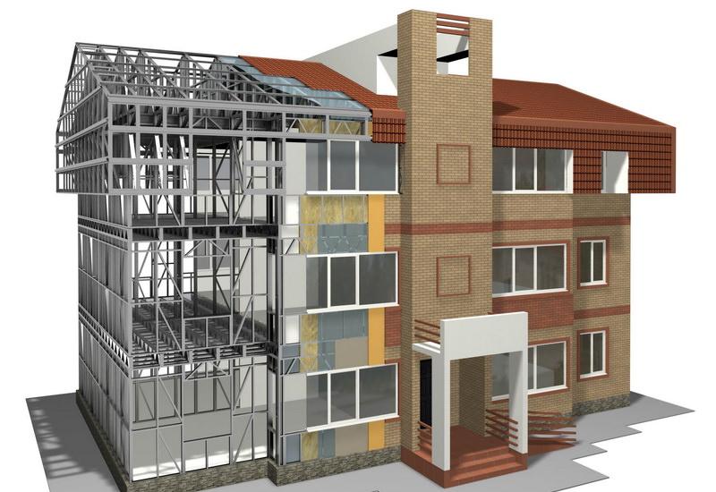 Проект 3-х этажного жилого дома ЛСТК