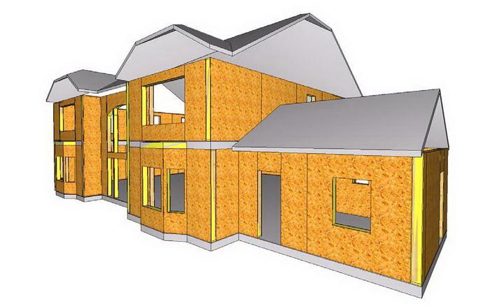 СИП дом со сложной геометрией