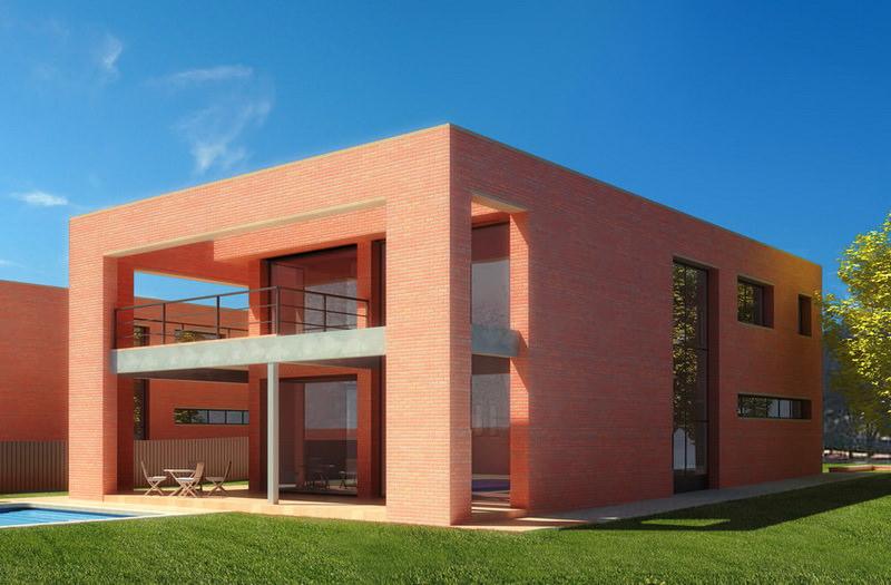Современный дом из кирпича