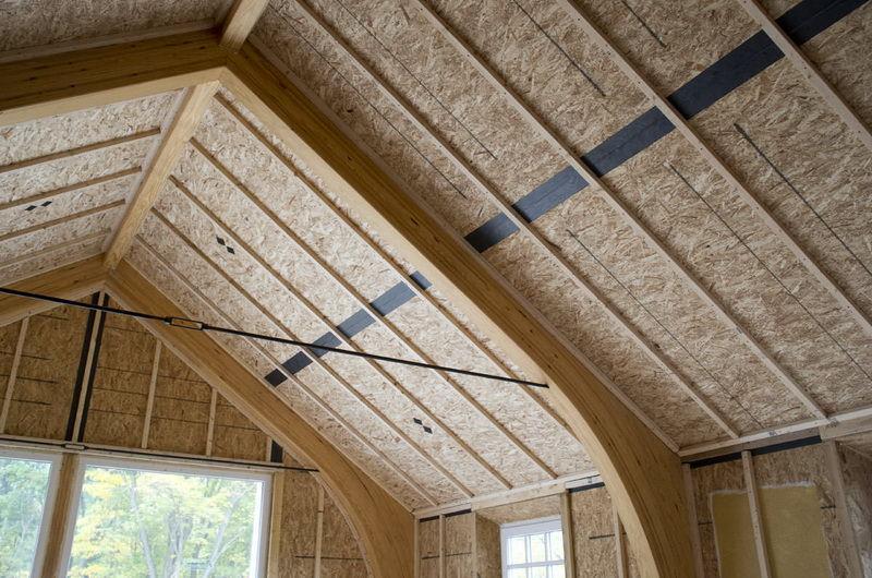 Устройство крыши из SIP панелей