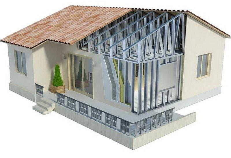 проект одноэтажного дома ЛСТК