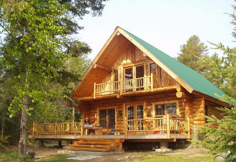 рубленный дом на опушке леса