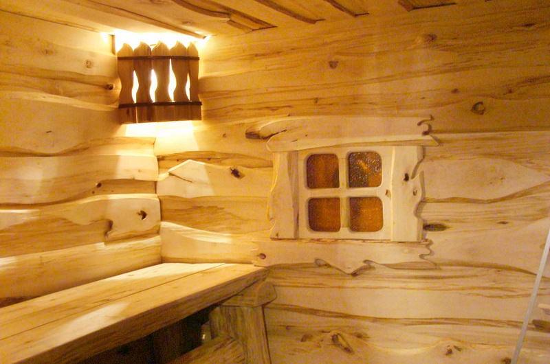 Внутренняя отделка бани в русском стиле