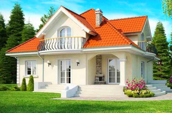 Загородный дом из бетона