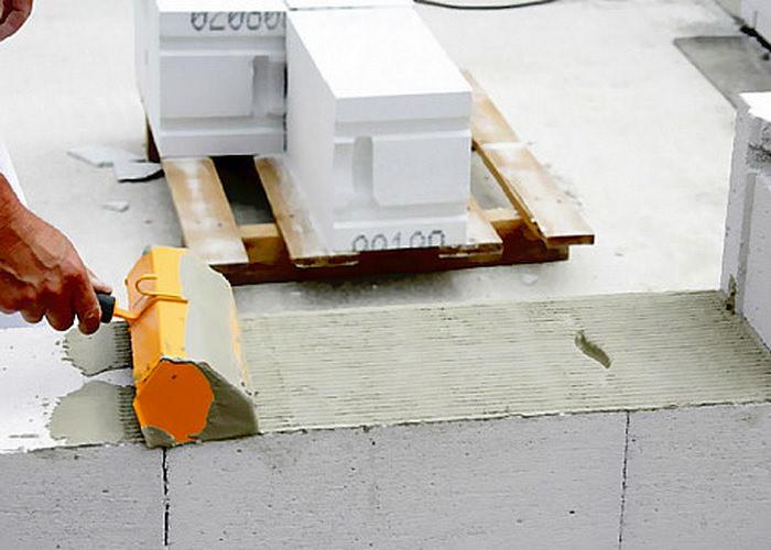 Укладка спец состава на блоки