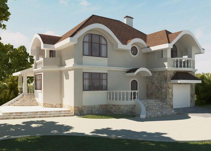 красивый дом из пеноблоков