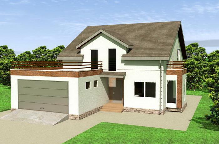 проект монолитного дома с гаражом