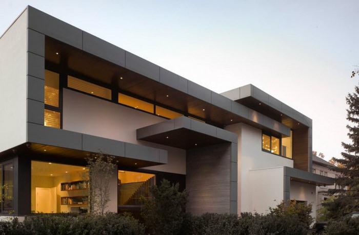 современная вилла из бетона