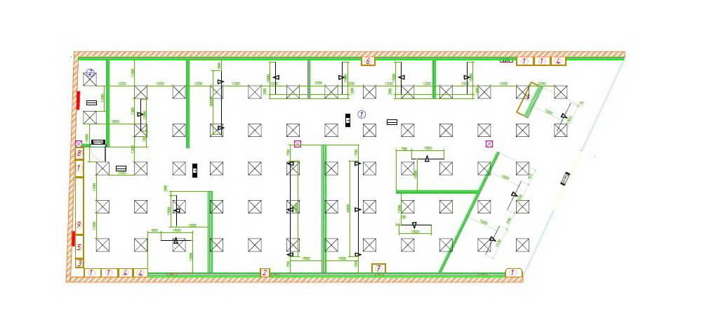 план установки освещения